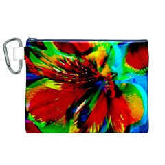 Flowers With Color Kick 1 Canvas Cosmetic Bag (xl) by MoreColorsinLife