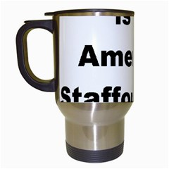 A Is For American Staffordshire Terrier Travel Mugs (white) by TailWags