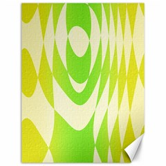 Green Shapes Canvas                              Canvas 12  X 16