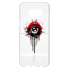 Red White Black Figure  Samsung Galaxy S8 Plus White Seamless Case by amphoto