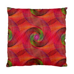 Red Spiral Swirl Pattern Seamless Standard Cushion Case (two Sides) by Nexatart