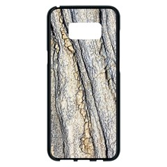 Texture Structure Marble Surface Background Samsung Galaxy S8 Plus Black Seamless Case by Nexatart