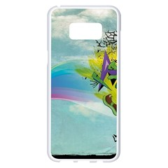 Man Crazy Surreal  Samsung Galaxy S8 Plus White Seamless Case by amphoto