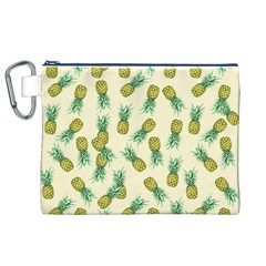 Pineapples Pattern Canvas Cosmetic Bag (xl) by Valentinaart