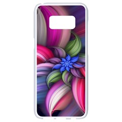 Flower Rotation Form  Samsung Galaxy S8 White Seamless Case by amphoto