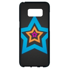Star Background Colorful  Samsung Galaxy S8 Black Seamless Case by amphoto
