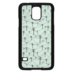 Telephone Lines Repeating Pattern Samsung Galaxy S5 Case (black) by Nexatart