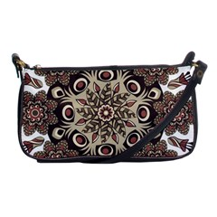 Mandala Pattern Round Brown Floral Shoulder Clutch Bags