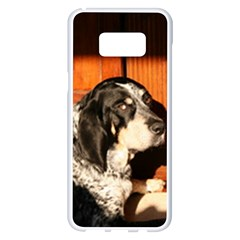 Bluetick Coonhound Laying Samsung Galaxy S8 Plus White Seamless Case by TailWags