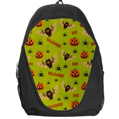 Bat, Pumpkin And Spider Pattern Backpack Bag by Valentinaart