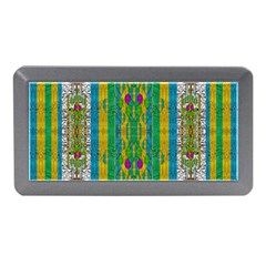 Rainbows Rain In The Golden Mangrove Forest Memory Card Reader (mini) by pepitasart