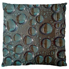 Drop Of Water Condensation Fractal Large Cushion Case (two Sides) by Nexatart