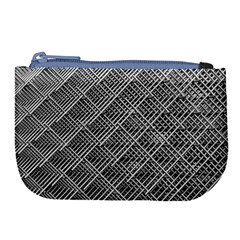 Grid Wire Mesh Stainless Rods Large Coin Purse by Nexatart