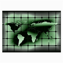 Matrix Earth Global International Large Glasses Cloth (2 Side) by Nexatart