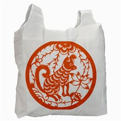 Chinese Zodiac Dog Recycle Bag (two Side)  by Onesevenart