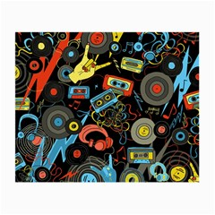 Music Pattern Small Glasses Cloth (2 Side) by Onesevenart