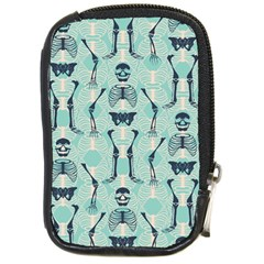 Skull Skeleton Repeat Pattern Subtle Rib Cages Bone Monster Halloween Compact Camera Cases by Mariart