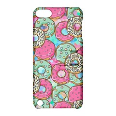 Donuts Pattern Apple Ipod Touch 5 Hardshell Case With Stand by ValentinaDesign