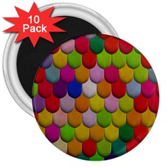 Colorful Tiles Pattern                           3  Magnet (10 Pack)