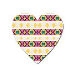 Rhombus And Stripes                            Magnet (heart)