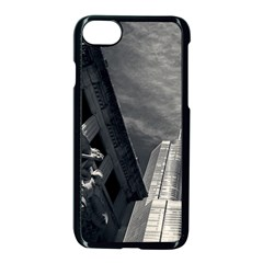 Chicago Skyline Tall Buildings Apple Iphone 7 Seamless Case (black) by BangZart