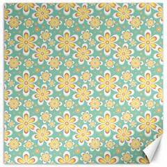 Seamless Pattern Blue Floral Canvas 16  X 16