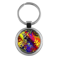 Awesome Fractal 35c Key Chains (round)  by MoreColorsinLife