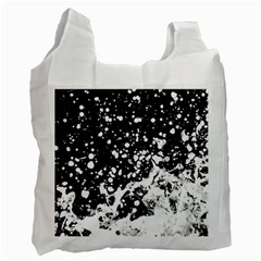 Black And White Splash Texture Recycle Bag (two Side)  by dflcprints