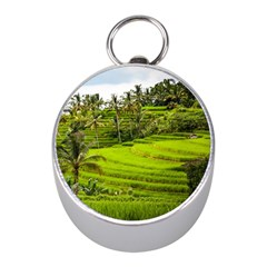Rice Terrace Terraces Mini Silver Compasses by Nexatart