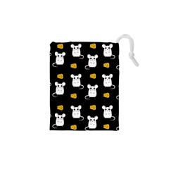 Cute Mouse Pattern Drawstring Pouches (xs)  by Valentinaart