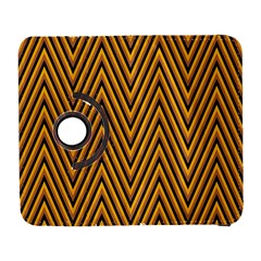 Chevron Brown Retro Vintage Galaxy S3 (flip/folio) by Nexatart