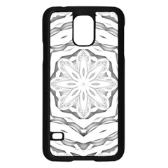 Mandala Pattern Floral Samsung Galaxy S5 Case (black) by Nexatart