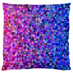 Triangle Tile Mosaic Pattern Large Cushion Case (two Sides) by Nexatart