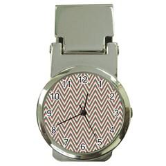 Chevron Retro Pattern Vintage Money Clip Watches