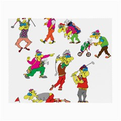 Golfers Athletes Small Glasses Cloth by Nexatart