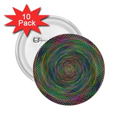 Spiral Spin Background Artwork 2 25  Buttons (10 Pack)  by Nexatart