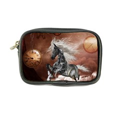 Steampunk, Awesome Steampunk Horse With Clocks And Gears In Silver Coin Purse by FantasyWorld7
