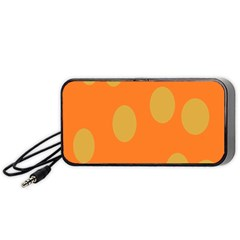 Orange Dots Portable Speaker (black)