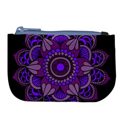 Purple Flower Harmony Large Coin Purse by NSTP