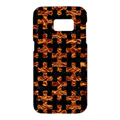 Puzzle1 Black Marble & Copper Foil Samsung Galaxy S7 Hardshell Case  by trendistuff
