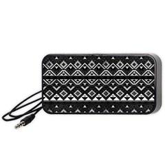 Aztec Influence Pattern Portable Speaker (black)