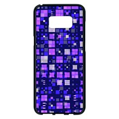 Small Geo Fun E Samsung Galaxy S8 Plus Black Seamless Case
