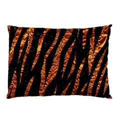 Skin3 Black Marble & Copper Foil Pillow Case (two Sides)