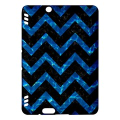 Chevron9 Black Marble & Deep Blue Water Kindle Fire Hdx Hardshell Case by trendistuff