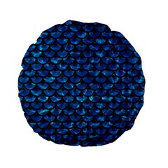 Scales3 Black Marble & Deep Blue Water (r) Standard 15  Premium Flano Round Cushions by trendistuff