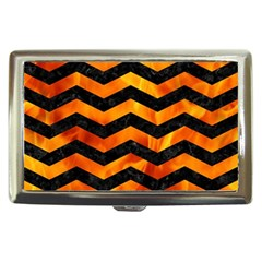 Chevron3 Black Marble & Fire Cigarette Money Cases by trendistuff