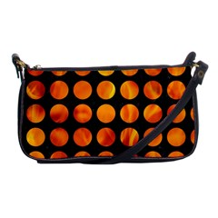 Circles1 Black Marble & Fire Shoulder Clutch Bags by trendistuff