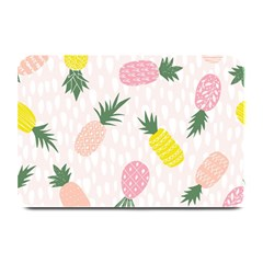 Pineapple Rainbow Fruite Pink Yellow Green Polka Dots Plate Mats by Mariart