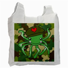 Octopus Army Ocean Marine Sea Recycle Bag (one Side) by Nexatart