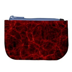 Simulation Red Water Waves Light Large Coin Purse by Mariart
